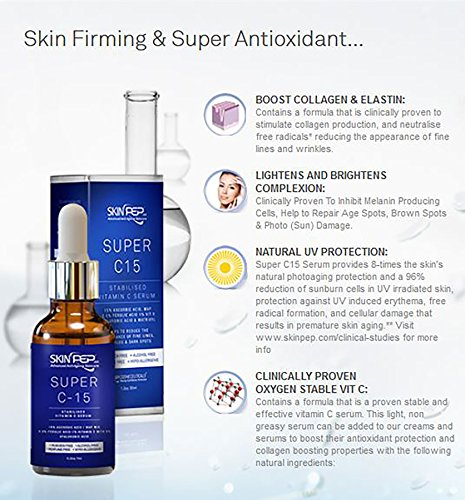 SkinPep ® Super C15 Serum 7ml: Amazon.es: Salud y cuidado ...