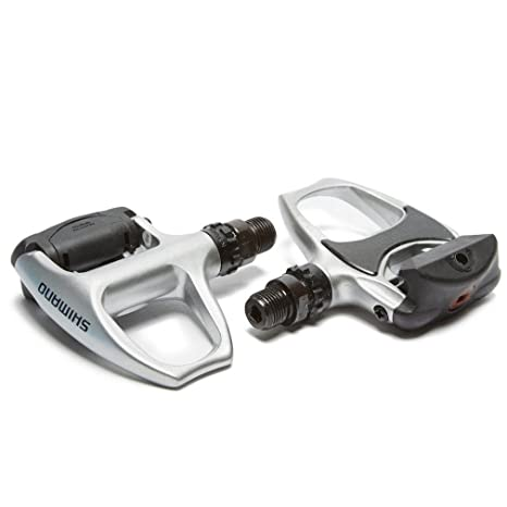 b19e1f91969 Buy Shimano PD-R540 SPD-SL Clipless Pedal Silver SM-SH11 Cleats for Road  Bike Retail Package Online at Low Prices in India - Amazon.in