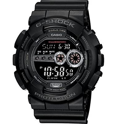 Casio G Shock Large Series Black Digital Dial Men's Watch - GD100-1B