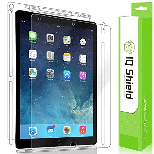 iPad Pro 12.9 Screen Protector, IQ Shield LiQuidSkin Full Body Skin + Full Coverage Screen Protector for iPad Pro 12.9 (2017) HD Clear Anti-Bubble Film
