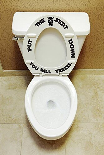 Put the seat down you will yessss Bathroom Kids Décor Toilet training Decal Funny Star decorations Toilet seat decals stickers Funny art Tub decorations boys men man toilet training man cave ()