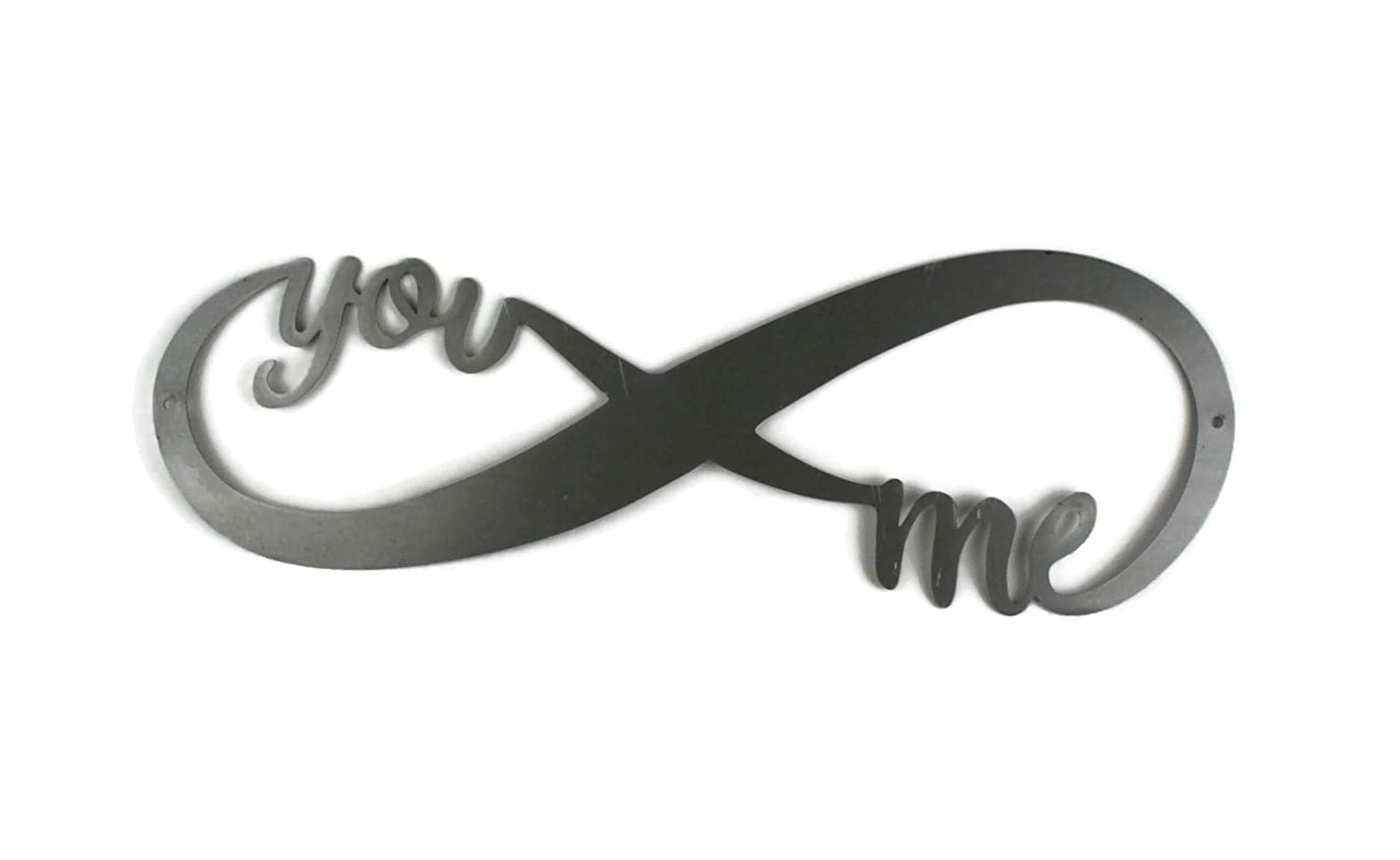 Infinity Symbol Raw Steel Unpainted Art 18 Inches