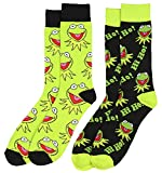 Disney The Muppets Hi Ho Kermit The Frog 2 Pair Crew Socks