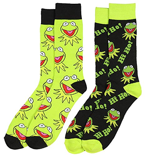 Disney The Muppets Hi Ho Kermit The Frog 2 Pair Crew Socks]()