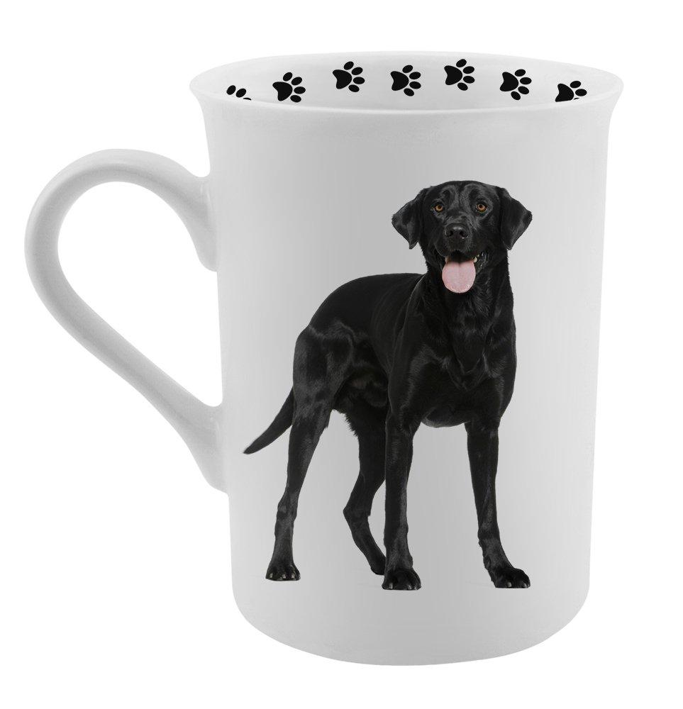 Dimension 9 Black Labrador Coffee Mug, White