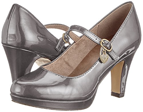 Closed 224 Women''s anthra oliver 31 24400 Pumps Patent S Grey toe I1vRx