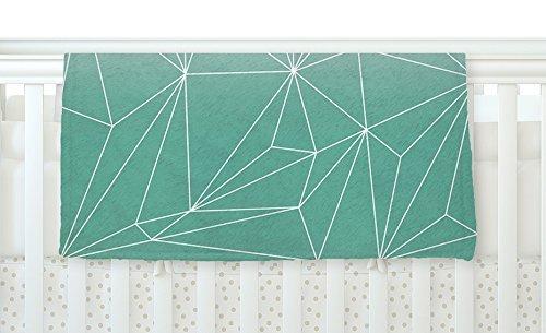 KESS InHouse Mareike Boehmer Simplicity Teal White Fleece Baby Blanket 40 x 30 [並行輸入品]   B077ZQD2NP