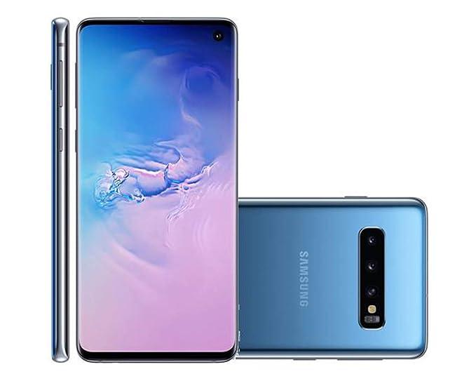 Smartphone Samsung Galaxy S10 128GB Nano Chip Android Tela 6.1'' Octa-Core 4G Câmera Tripla Traseira 12MP 12MP 16MP - Azul