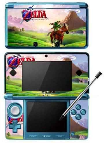 Zelda ocarina of time game skin for nintendo 3ds console video games - Ocarina of time 3ds console ...