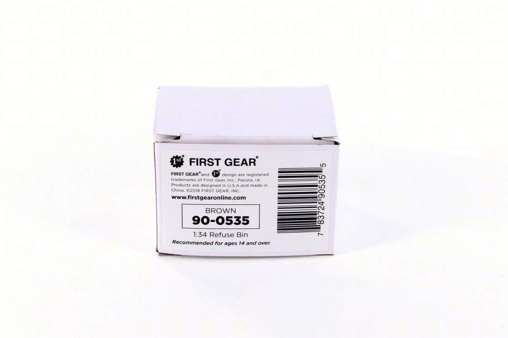 Amazon.com: Refuse Trash Bin, Brown - First Gear 90-0535 - 1/34 Scale Diecast Model Toy Car: Toys & Games