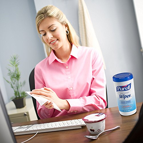 Hand and Face Sanitizing Wipes -3 Refreshing Scent And 3 Fragrance Free Canisters of 40 Count by Purell (Image #6)
