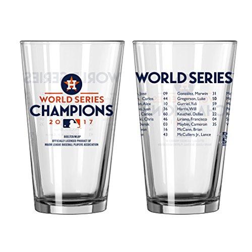 Houston Astros 2017 World Series Champions Roster Pint - Glasses Houston
