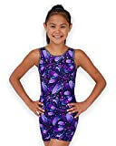 Pelle Gymnastics Biketard/Unitard - Purple Peacock - C Medium