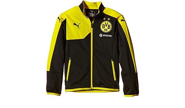PUMA Chaqueta del Borussia Dortmund Poly Negro Negro/Amarillo ...