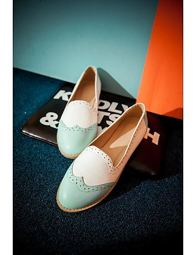 5 Comfort Zapatos uk5 cn38 blue eu39 Rosa blue eu38 black Casual uk5 mujer eu38 Mocasines 5 cn38 us7 Tac¨®n ZQ Semicuero us8 5 de YYZ Plano Bailarina Negro Azul cn39 uk6 us7 5 YqY654H