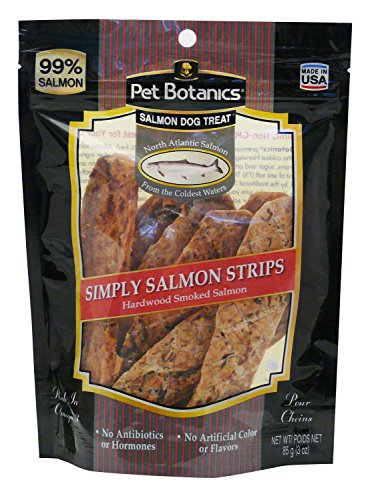 Pet Botanics Simply Salmon Strips, 3 Oz Dog Treats