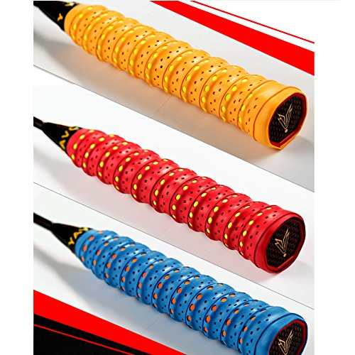 10 Pack Racket Overgrips Anti slip and Absorbent Grip for Badminton / Squash /Racketball/ Fishing from Zaptex