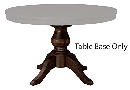 Ashley Furniture Signature Design   Trudell Round Dining Room Pedestal  Table Base   Vintage Casual