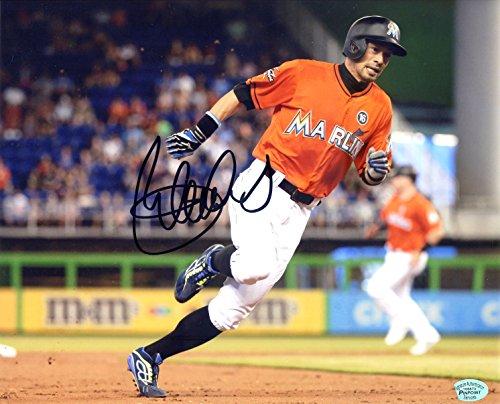 (Ichiro Suzuki Miami Marlins Signed Autographed 8