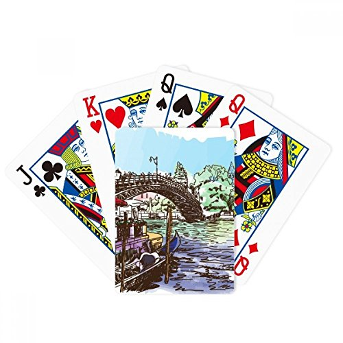 Italy Venice Landmark Watercolour Poker Playing Cards Tabletop Game Gift by beatChong