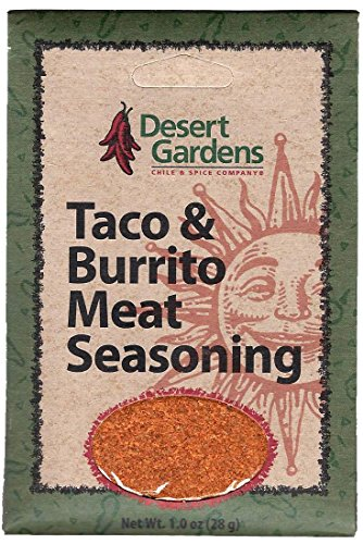 Desert Gardens Taco & Burrito Meat Seasoning (Pack of 4) by Desert Gardens