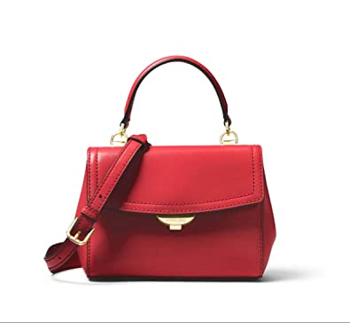 356bd03d75c0 Image Unavailable. Image not available for. Color  MICHAEL Michael Kors Ava  Extra-Small Leather Crossbody in Bright Red