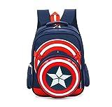 BeautyWalk Fashion Avengers Captain America School Bags Kids Backpack Boys (Dark Blue)