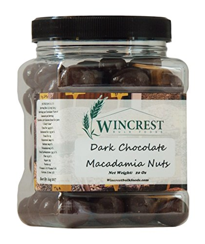 Dark Chocolate Macadamia Nuts - 1.25 Lb (20 Oz) Tub ()