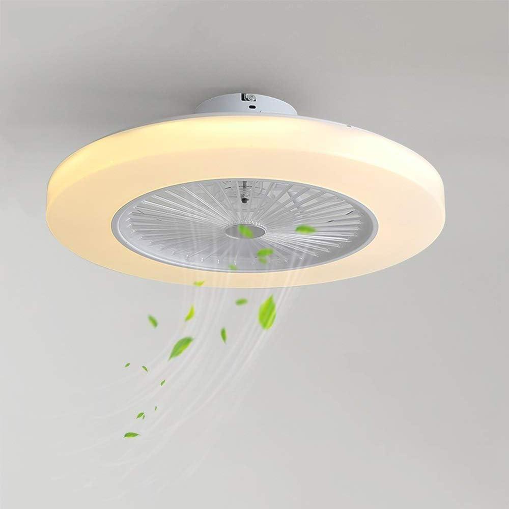 Deckenventilator Mit Lampe, Lüfter Mit 36w Led-deckenleuchten, Fernbedienung, Die Geschwindigkeit Regelt Wind, Geräuschminderungskit (Warm White Light 3000k)