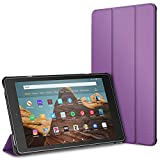 "JETech Case for Amazon Fire HD 10 Tablet 10.1"" (7th / 9th Generation, 2017 Release / 2019 Release) Smart Cover with Auto Sleep/Wake, Purple"