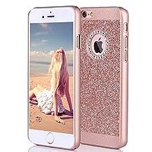 iPhone 6s Plus Case, Imikoko Fashion Luxury Protective Hybrid Beauty Crystal Rhinestone Sparkle Glitter Hard Diamond Case Cover For iPhone 6s/6 Plus (Bling Rose Gold)