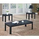 Monarch Specialties 3-Piece Table Set, Black