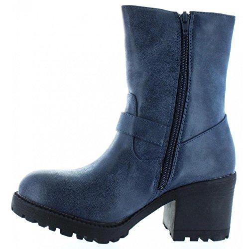 Suevo Azul 51220 Donna Per Stivaletti Mtng UYavRq