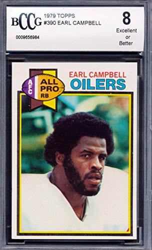 1979 Topps #390 Earl Campbell Rookie Card Graded BCCG - Campbell Rookie Card