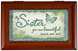 Carson Home Accents My Sister Music Box, 6 x 4 x 2 1/2''