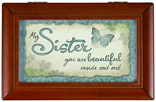 Carson Home Accents My Sister Music Box, 6 x 4 x 2 1/2'' by Carson