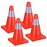 road construction cones - CHIMAERA (4-Pack) Traffic Cones for Construction Road Hazard Reflective Safety 18