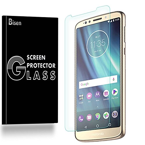 [2-PACK] Motorola Moto G6 Play/Moto G Play (6th Gen) Screen Protector, BISEN Tempered Glass, Anti-Scratch, Anti-Fingerprint, Anti-Bubble, Lifetime Protection