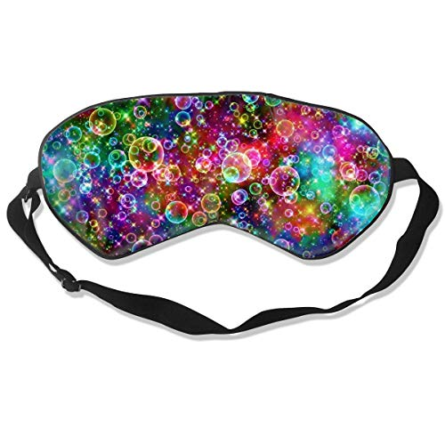 Eye Mask Colorful Sparkle Bubbles Hd Abstract Hero Header Sleeping Mask Adjustable Breathable Sleep Mask Sleeping Sleep Eyes Mask Eyeshade Blindfold ()