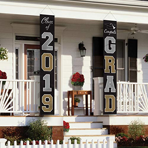2019 Graduation Grad Hanging Flag Set -