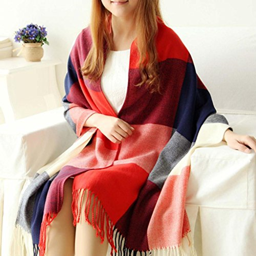 HuaYang Extra Long Warm Winter Imitation Cashmere Thicken Pl