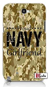 Proud Navy Girlfriend Digital Camouflage Camo Tan Unique Quality Hard Snap On For Case Samsung Galaxy S4 I9500 Cover (WHITE)