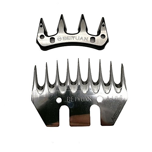 Sheep Clipper Blades Shearing Comb Electric Shears Replacement Comb and Cutter (9 tooth straight)