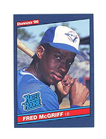 Amazoncom 1986 Donruss 28 Fred Mcgriff Nm Mt Rc Rookie Blue Jays