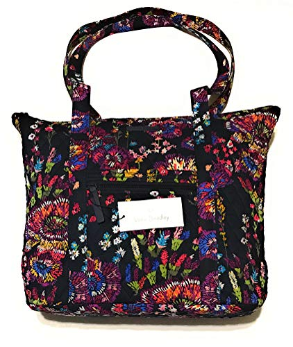 - Vera Bradley Villager Tote Bag (Midnight Wildflower)