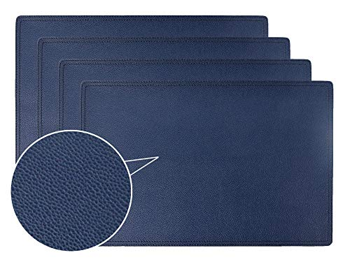 Faux Leather Placemats, PU Table Mats, Set of 4, Waterproof, Stain Resistant, Heat Resistant, Non-Slip Easy to clean for Kitchen Dining Table,Conference Table