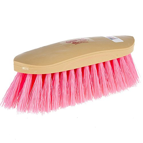 - Decker Manufacturing Grip Fit Grooming Horse Brush Hot Pink Synthetic Bristles