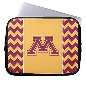 geordiet Minnesota Marrón y Amarillo inicial M neopreno, impermeable mangas de ordenador portátil de 15