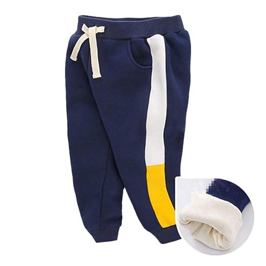 Yishelle Kids Pantalones Niños Cintura elástica Informal para ...