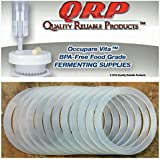 QRP REGULAR OR WIDE MOUTH SEALS Mason Jar Plastic Cap Reusable Silicone Food Grade Bulk Quantities Available (12 WIDE MOUTH)